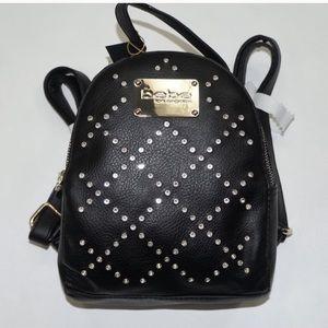 Bebe black studded Gemma mini backpack